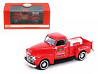 1953 Chevrolet Pickup Truck Red Coca Cola with Metal Cooler 1 43 Diecast Model