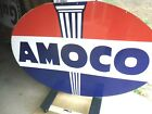 VINTAGE AMOCO 6FT PORCELAIN SIGN DOUBLE SIDED 1958 SPS 6FT X 4FT HARD 2 FIND