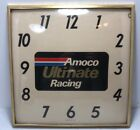 Vintage Amoco Ultimate Racing Adv Clock / Gas Oil / Soda / Service Station