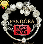 Authentic Pandora Bracelet Silver White LOVE STORY WIFE with European Charms