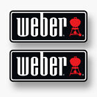 2x Weber Sticker Vinyl Decal Logo Grill Genesis Bbq Barbecue Igrill Charcoal