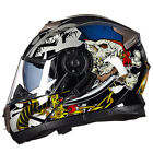 Cool Motorcycle Helmet Awesome Full Face Street Bike Moped Sportbike Flip Up Men
