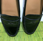 Coach Black Patent Leather Loafers Odette Silp On Womens Shoes US 10