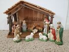 Vintage Sears Nativity Set 11 Figures And Manger Stable 7197930 In Original Box