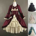 ✨Women Gothic Lolita Dress Ladies Vintage Victorian Cosplay Party Prom Dresses