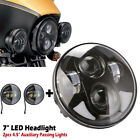 Fit For Harley Electra Glide Classic 7 LED Headlight + 45 Passing Lights