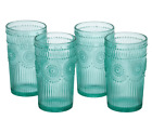 New The Pioneer Woman Drinking Glasses 16 Ounce Glass Tumbler Set of 4 Turquoise