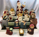 Eddie Walker Midwest of Cannon Falls Kid Nativity 10 PC + 7 Extra Santa Cats Orn