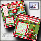 ELF ON THE SHELF CHRISTMAS boy premade scrapbook pages paper layout CHERRY 0109