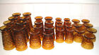 Vintage Amber Indiana Glass Footed Whitehall Colony 31 Piece Set Mint Condition