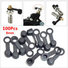 100Pc 8mm Bike Brake Bleeder Screw Caps Grease Fitting Oil Drain Pump Dust Cover