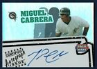 Miguel Cabrera Topps 2005 Certified Autograph Issue Pack Wars #PWA-MC