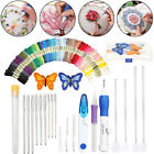 Magic DIY Embroidery Pen Knitting Sewing Kit Tools Punch 50 Needle Thread Set Y2