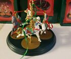 1989 Hallmark 5 piece Carousel Horse Set and Display Stand  WE TAKE OFFERS
