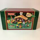 2002 Fisher Price Little People Deluxe Christmas Story Nativity Stable Baby Jesu