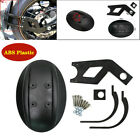Black Motorcycle Rear Wheel Cover ABS Fender Splash Guard Mudguard+Bracket Kit