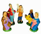 Nativity Set 5 Figurines Chalkware Vintage Italy