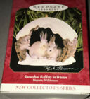 1997 Hallmark Keepsake Snowshoe Rabbits In Winter Majestic Wilderness Ornament