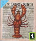 Extra Large LOBSTER Ocean Coast Newspaper Collage Nautical Rubber Stamp NEW