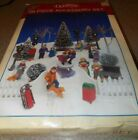 1995 Lemax Village Collection Animated Skating Pond and people  Original Box