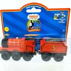 2004 Thomas & Friends Wooden Railway Train JAMES and JAMES' TENDER NEW RC2