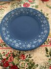 Fiesta Ware Luncheon Plate Lapis Blue Macy's Snowflake Exclusive 9