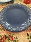 Fiesta Ware dinner Plate Lapis Blue Macy's Snowflake Exclusive 10.5 inches