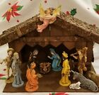 Nativity Set Italy 14 excellent pieces + Stable Creche