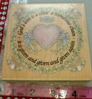 Stamps happen Gods love in a circle big9 woodenrubberstamp