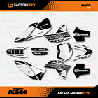 White Shift Racing Graphics Kit fit KTM 07-11 SX Sxf/Exc 125 150 200 250 300 450