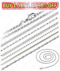 925 Sterling Silver Diamond Cut Rope Snake Rolo Link Chain Necklace 16 24 inch