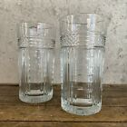 Vintage Libbey Glasses (2) Glass Tumbler Rock Sharpe Radiant Diamond Made USA