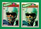 Lot of (2) 1977 Topps Football Steve Largent Rookie Cards