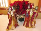 Russian Hand Painted Metal Capiz Christmas Nativity Holy Family Three Wise Men