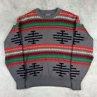 Pendleton Western Wear Wool Sweater USA Ugly Christmas Native American Large VTG
