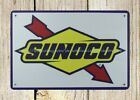 US SELLER- advertising living room wall art Sunoco gas oil metal tin sign