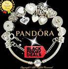 Authentic Pandora Bracelet Silver White WIFE LOVE STORY with European Charms