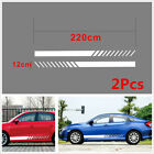 2X White Graphics Vinyl Decal Sticker Car Long Stripe Decals Waterproof 22012CM