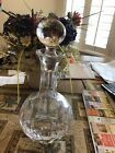 Beautiful Antique Clear Cut Glass Beverage Container