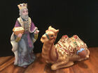 Thomas Kinkade Nativity Set Pieces King Gaspar  Seated Camel Figurines