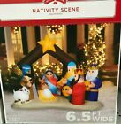INFLATABLE CHRISTMAS Nativity Scene Outdoor Yard Greeter Giant Airblown 65 ft