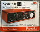 Focusrite Scarlett 2i2 2nd Gen USB Audio Interface With 1 4 TRS Male cable