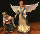 Thomas Kinkade 2007 Nativity Set King Melchior  Heavenly Angel Figurines