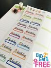 PP539 Birthday Cupcake Fillable Remind Life Planner Stickers for Erin Condren