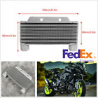 Druable Silver Aluminum Alloy Motorcycle Engine Oil Cooler Radiator 15 Rows -USA