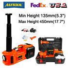 Car Jack Lift 12V 5 Ton Electric Hydraulic Floor Jack Impact Wrench Repair SUV