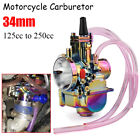 34mm PWK Carburetor Carb Motorcycle Racing ATV 125cc 250cc For Keihin Koso OKO