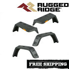 Rugged Ridge Hurricane Flat Fender Flare Kit 2007 2018 Jeep Wrangler JK Smooth