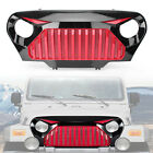 Car ABS Front Gladiator Mesh Grille Grill for Jeep Wrangler TJ 1997 06 Red Black