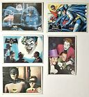 LOT of 5  Vintage 1966 Topps  Batman Cards  FREE FAST!